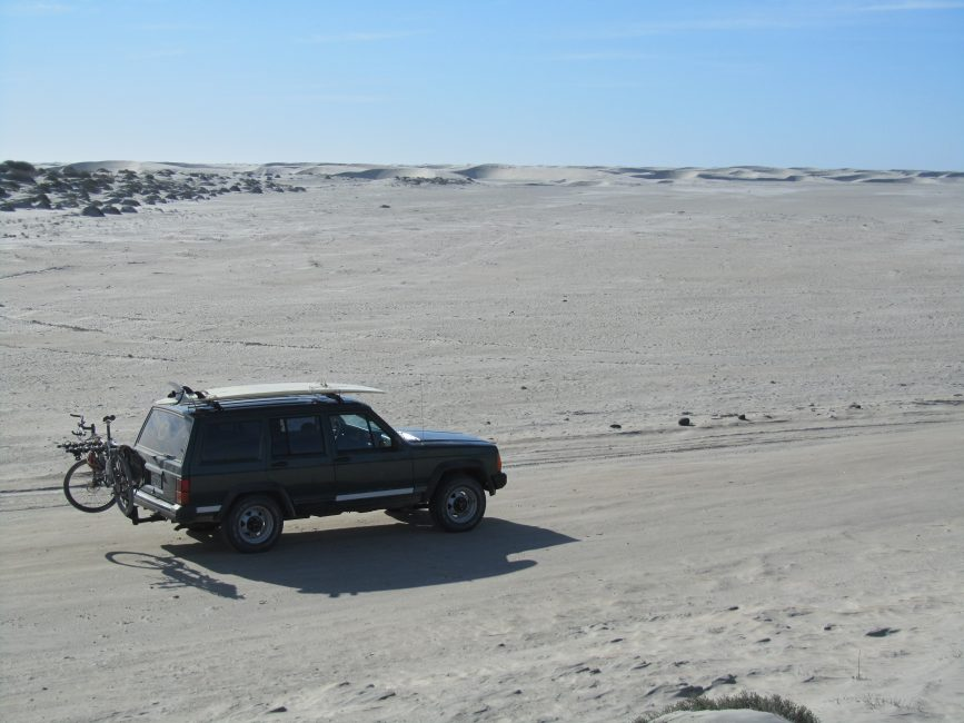 Jeep north of Scorpion Bay