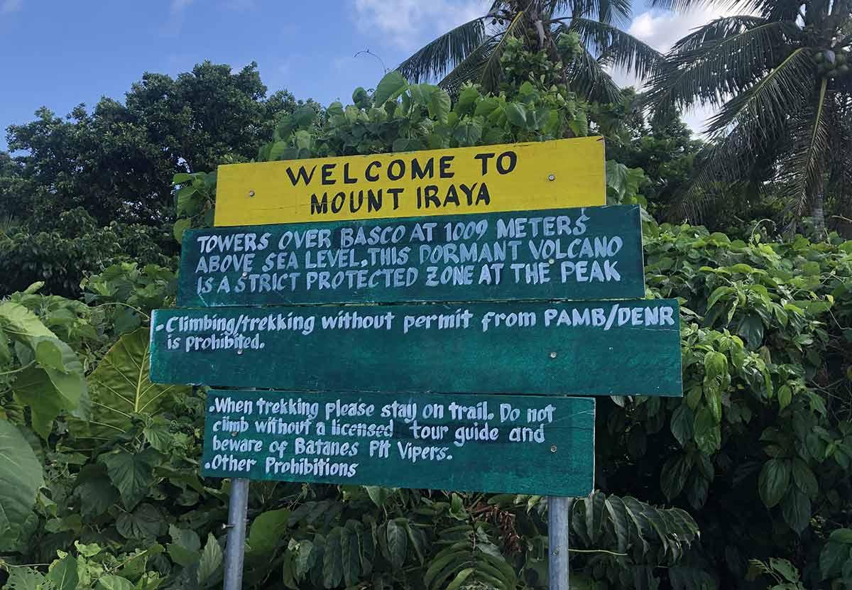 Mt. Iraya Signpost